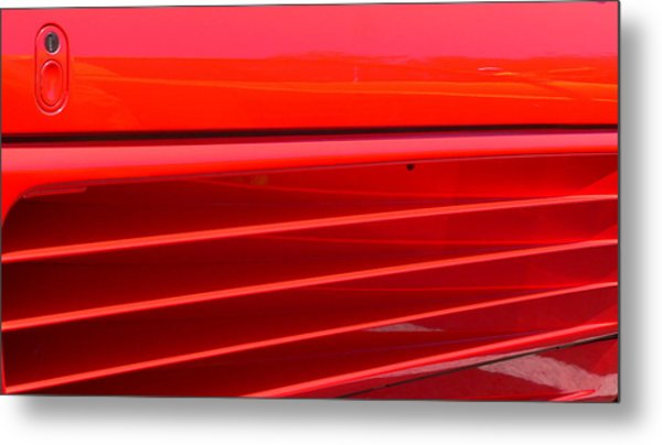 Metal Print featuring the photograph Ferrari Exotic Sports Car Side by Jeff Lowe