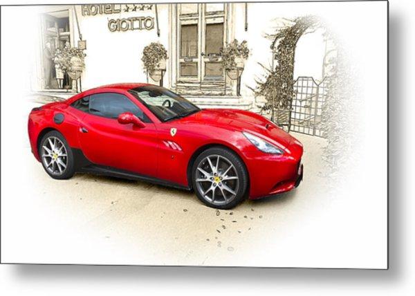 Ferrari Metal Print by John Hix