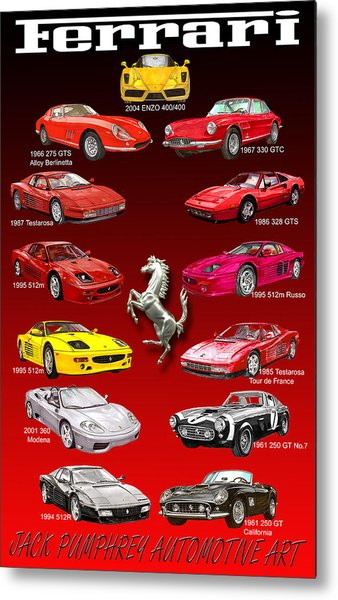 Ferrari Sports Car Poster  Metal Print