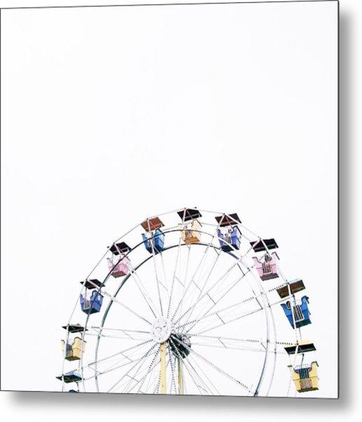 Ferris Wheel Against Clear Sky Metal Print by Avneet Kaur / Eyeem