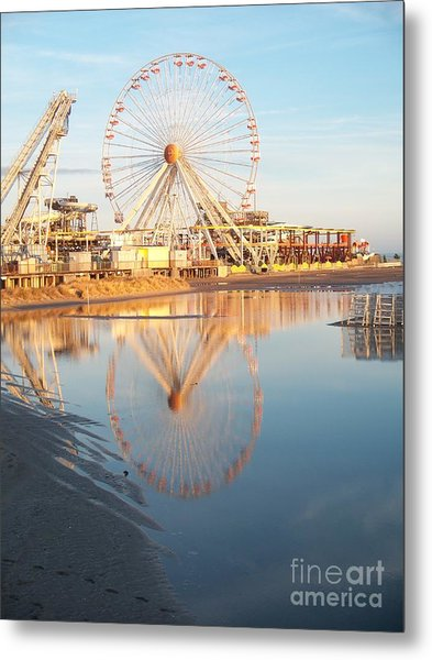 Ferris Wheel Jersey Shore 2 Metal Print