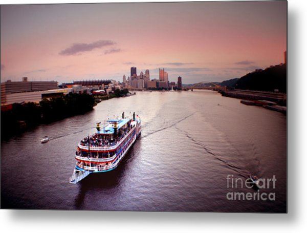 Ferry Boat At The Point In Pittsburgh Pa Metal Print