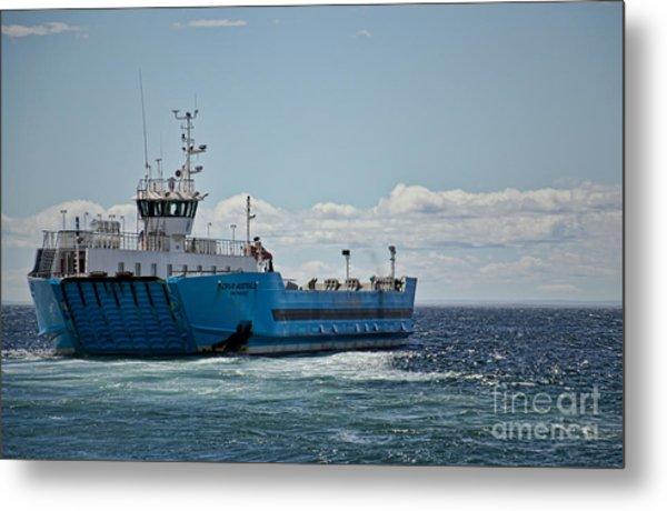 Ferryboat In Chilean Waters Metal Print