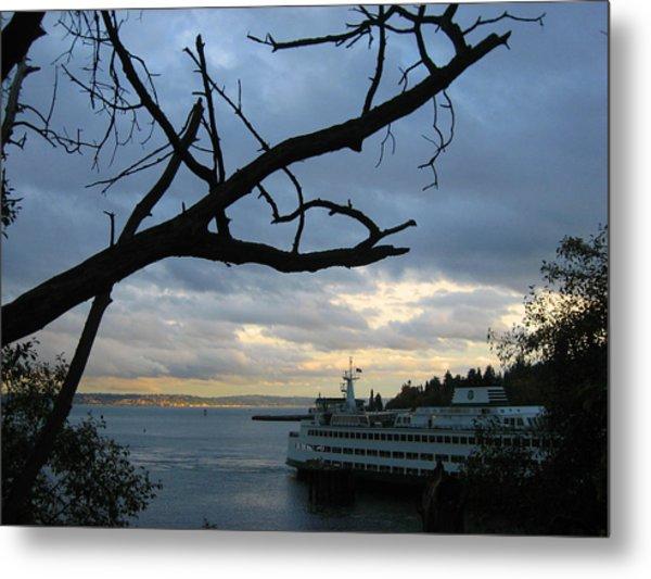 Ferryboat To Seattle  Metal Print