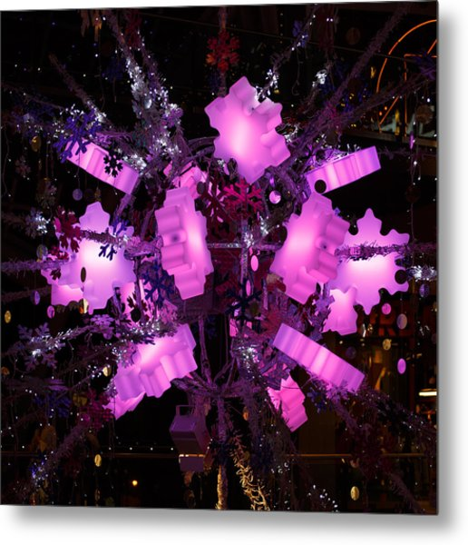 Metal Print featuring the photograph Festive Lights by Paul Indigo