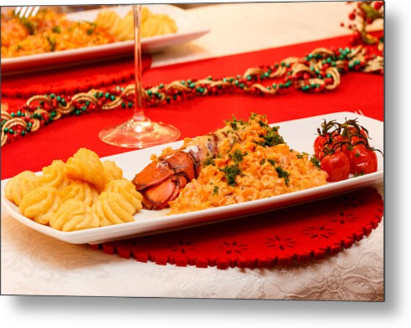 Metal Print featuring the photograph Festive Lobster Tail by Paul Indigo