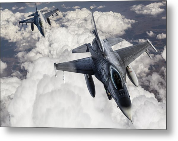 Fıghter Jet Metal Print by Guvendemir