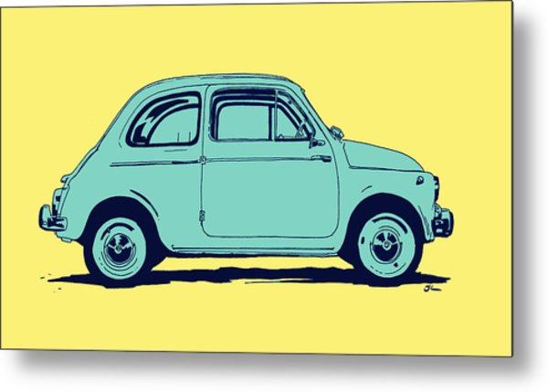 Fiat 500 Metal Print by Giuseppe Cristiano