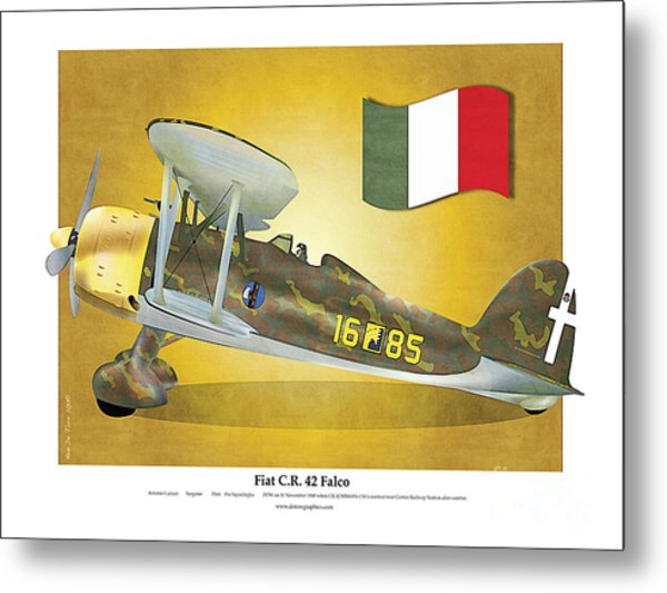 Fiat Falco C.r.42 Metal Print
