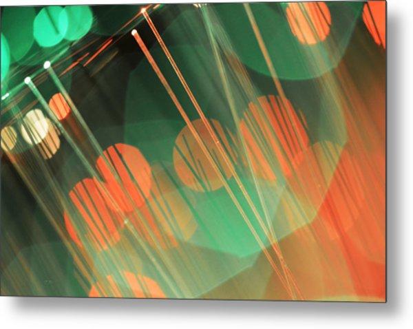 Fiber Optic Bokeh Light Metal Print
