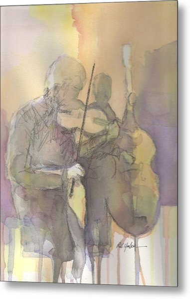 Fiddle N' Bass  Metal Print