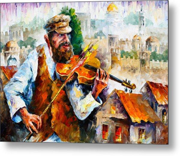 Fiddler  In Jerusalem 2 New Metal Print