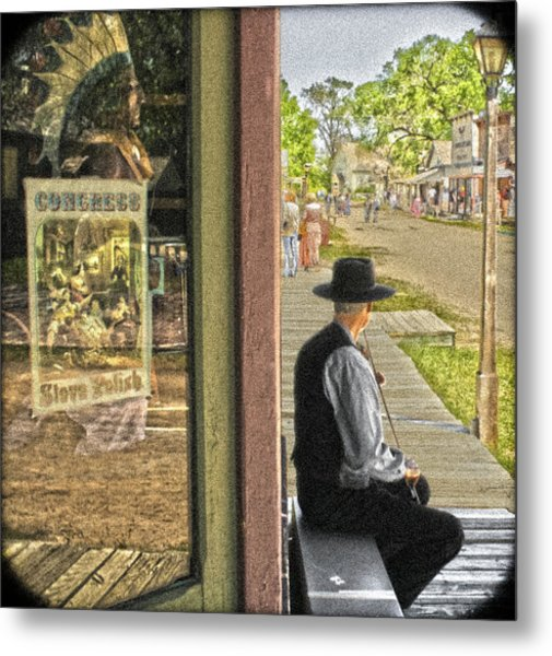 Fiddler On The Street Metal Print