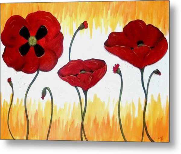 Field Of Fire Metal Print