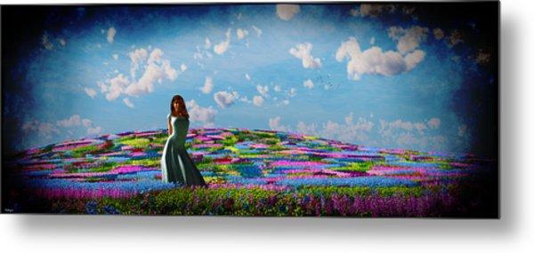 Field Of Flowers... Metal Print