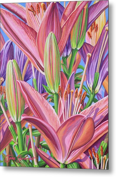 Field Of Lilies Metal Print