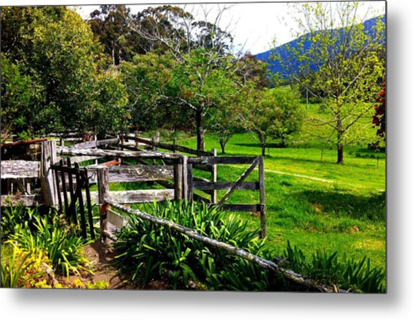 Fields And Fences Metal Print
