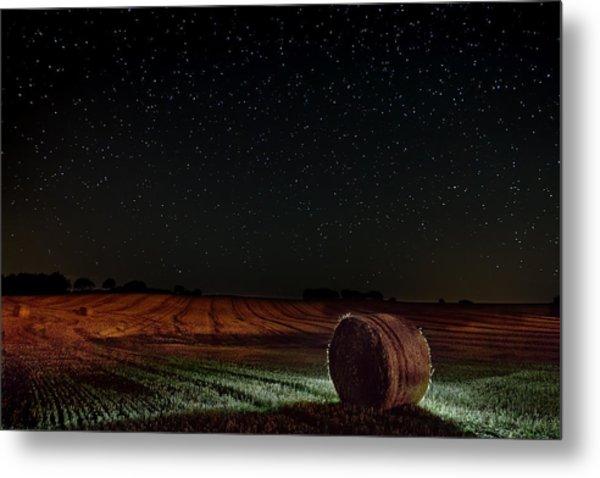 Fields At Night Metal Print