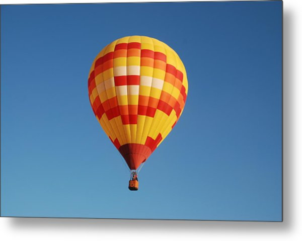 Fiery Balloon Metal Print by Miguelito B