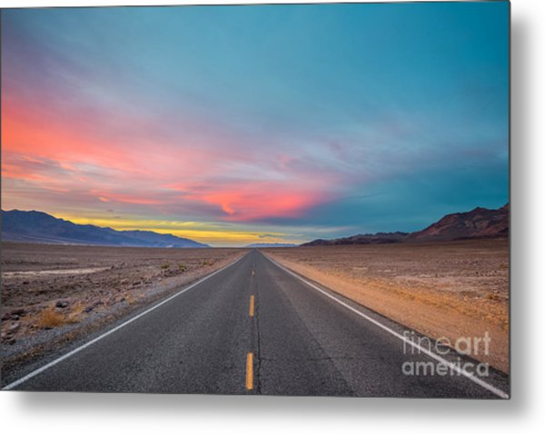 Fiery Road Though The Valley Of Death Metal Print