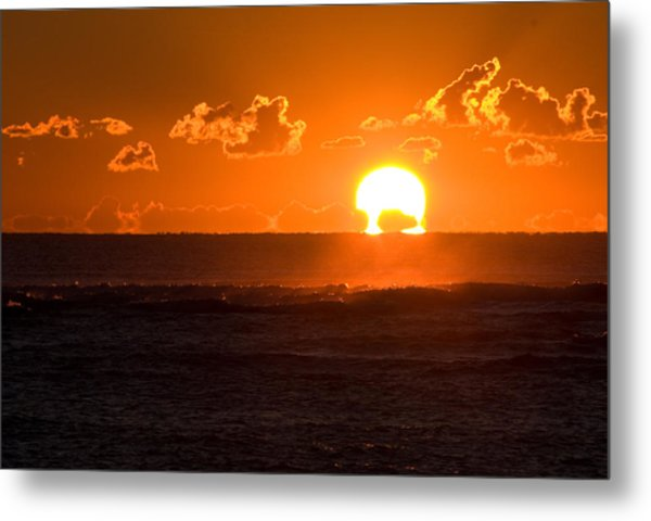 Fiery Sunrise Metal Print