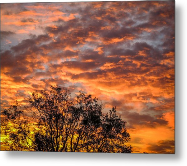 Fiery Sunrise Over County Clare Metal Print