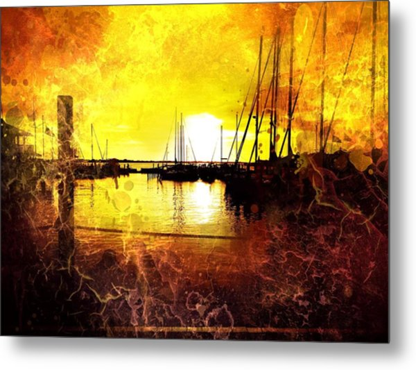 Fiery Sunset Metal Print by Beth Williams