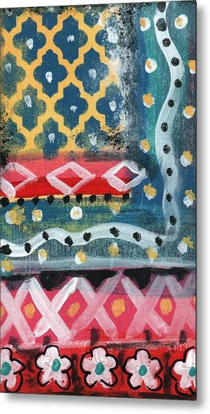 Fiesta 4- Colorful Pattern Painting Metal Print