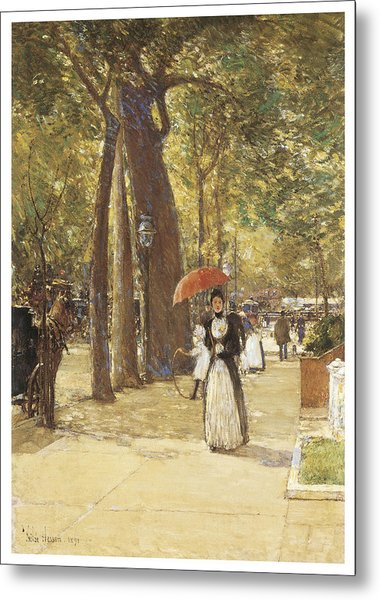 Fifth Avenue At Washington Square Metal Print by Childe Hassam