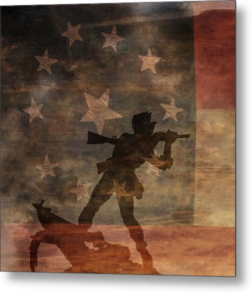 Fight To The Death Silhouette Three Of Three Metal Print by Randy Steele