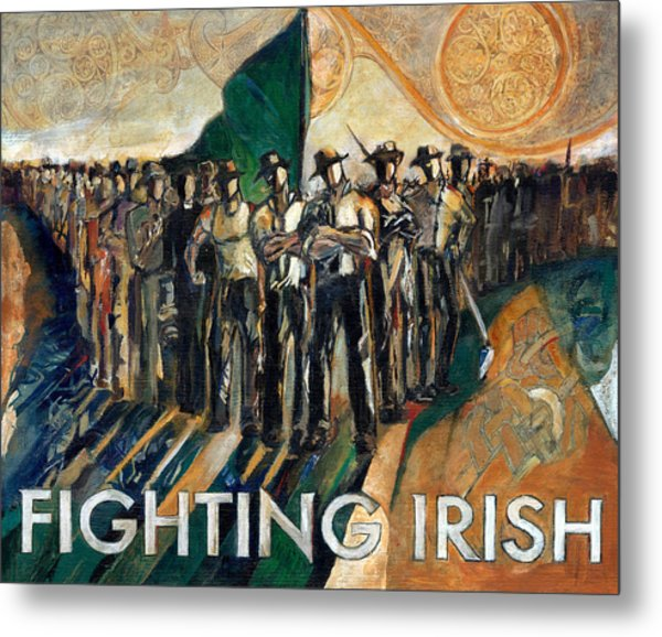 Fighting Irish Pride And Courage Metal Print by Revere La Noue
