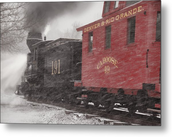 Fighting Through The Winter Storm Metal Print