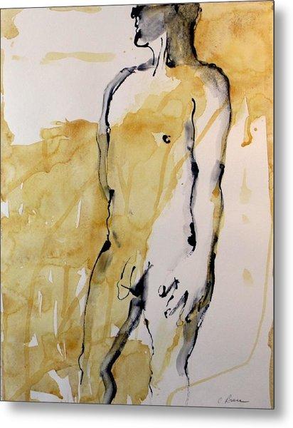 Figure 12 Male Nude Study Metal Print by Craig  Bruce