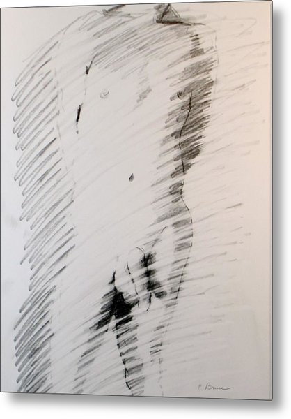 Figure 13 Male Nude Study Metal Print by Craig  Bruce