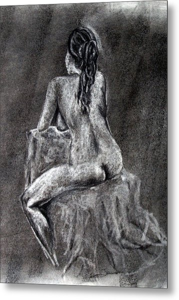 Figure Drawing 2 Metal Print by Corina Bishop