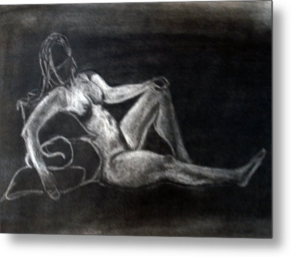 Figure Drawing Metal Print by Corina Bishop