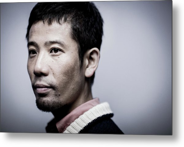 Film Director Shuhei Morita Portrait Metal Print by Chris Mcgrath