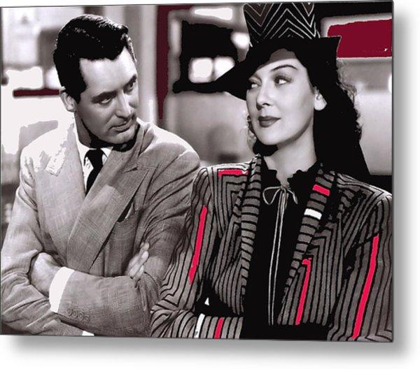 Film Homage Cary Grant Rosalind Russell Howard Hawks His Girl Friday 1940-2008 Metal Print
