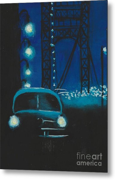 Film Noir In Blue #1 Metal Print