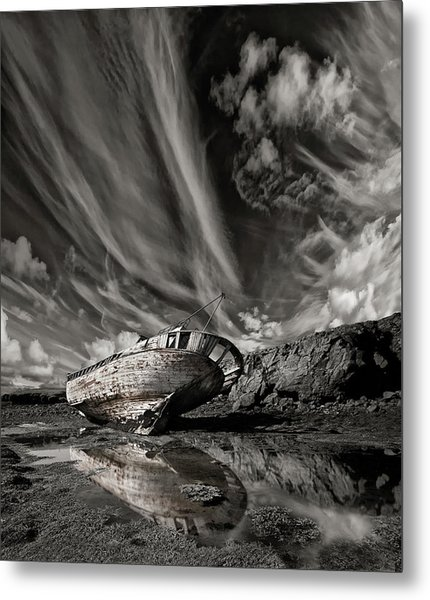 Final Place (mono) Metal Print by ?orsteinn H. Ingibergsson