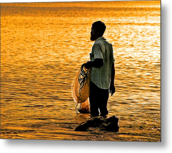 Finding Supper Metal Print