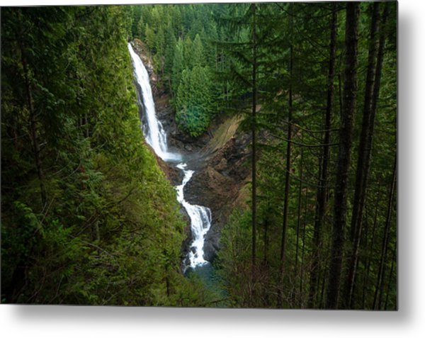 Finding The Falls Metal Print