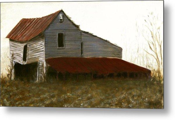 Fine Art Oil Painting North Carolina Barn Metal Print