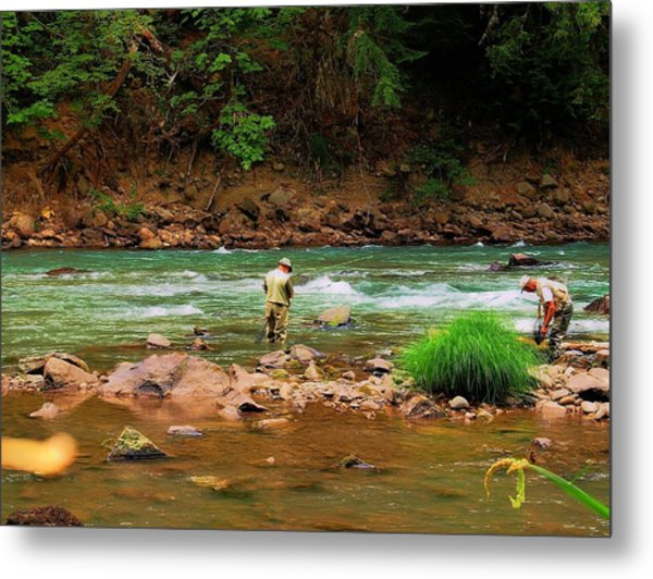 Fine Day For Fishin Metal Print