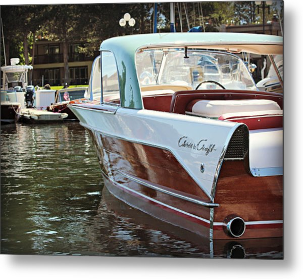 Finned Chris Craft Metal Print