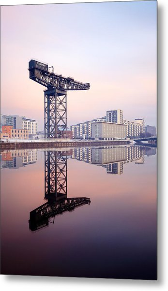 Finnieston Crane Reflection Metal Print