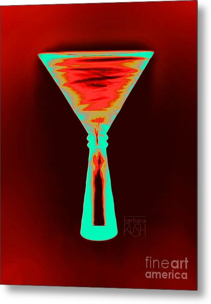 Fire And Ice Martini Metal Print