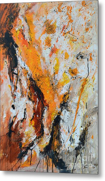 Fire And Passion - Abstract Metal Print by Ismeta Gruenwald