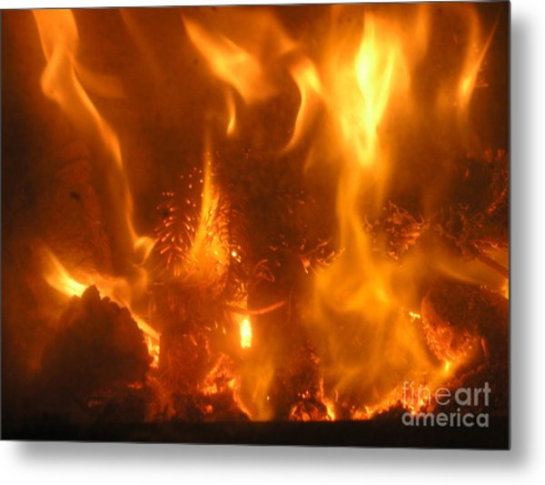 Fire - Burning Love Metal Print