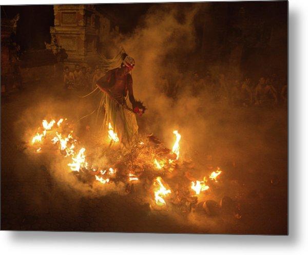 Fire Dancer Metal Print by Angela Muliani Hartojo